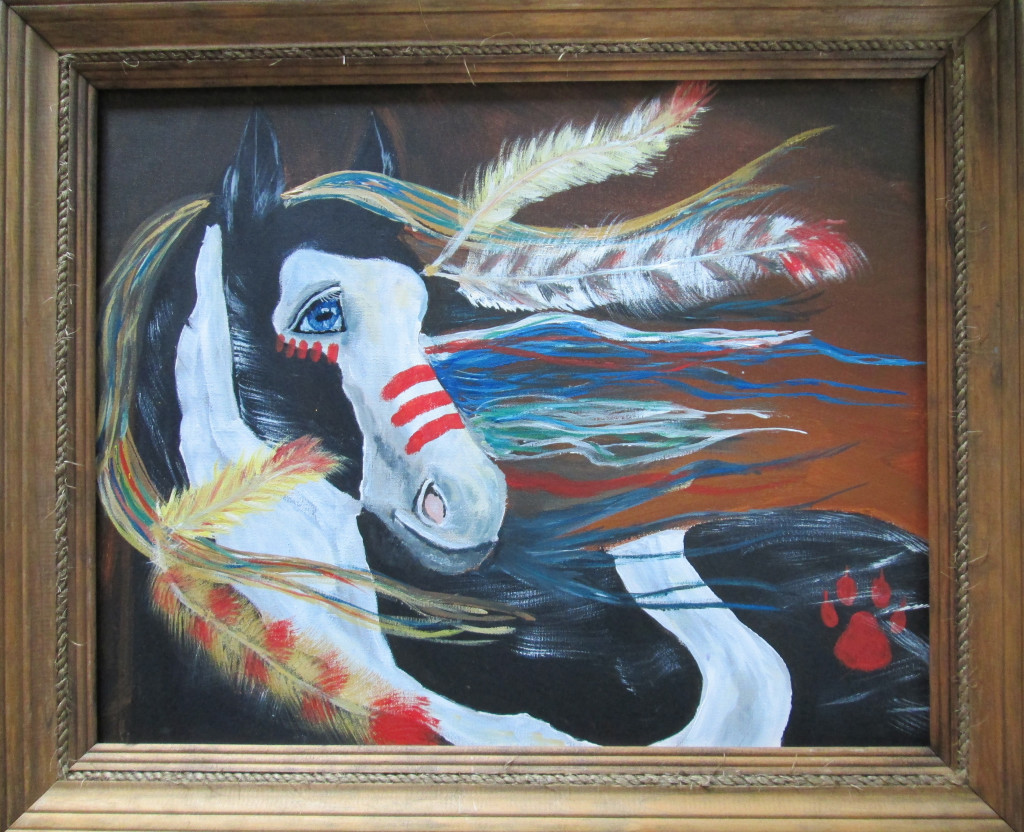"Painted Pony $250.00  18"" x 20"""