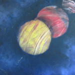 "Planets in my Window $250.00  20"" x 20"""