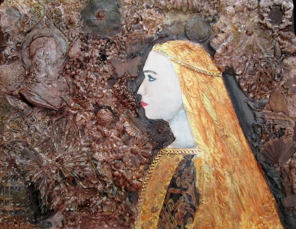 "Renaissance Woman $125.00 16"" x 20"" Mixed Media"